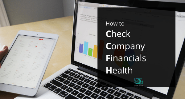 How to check company financial health