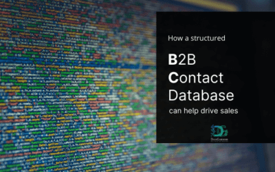 How a structured B2B Contact database can help drive sales?